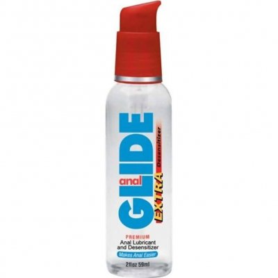 Anal Glide Extra Water Based Desensitizing Lubricant 2 Oz Pump