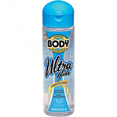 Body Action Ultra Glide Personal Water Based Lubricant 8.5 Oz