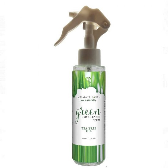Intimate Earth Green Toy Cleaner Spray with Tea Tree Oil 4.1 Oz