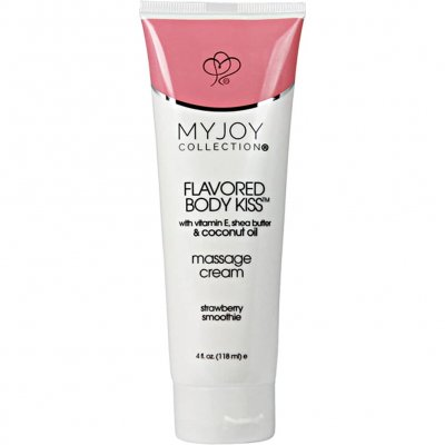My Joy Collection Flavored Body Massage Cream Strawberry 4 Oz