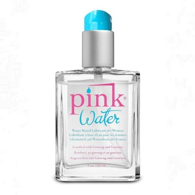 Pink Water Water Base Lubricant for Women 4 Oz Glass Bottle Pump