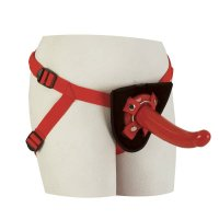 CalExotics Red Rider Adjustable Strap-On Set In Red