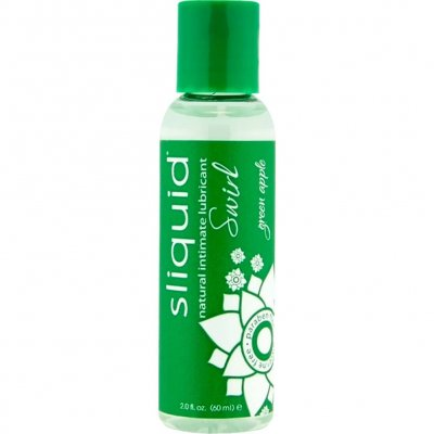 Sliquid Naturals Swirl Lubricant Green Apple Tart Flavor 2 Oz