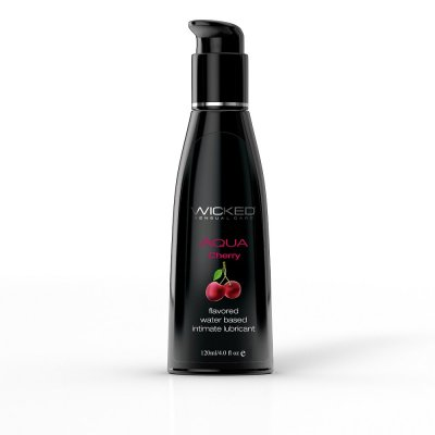 Wicked Aqua Flavored Water Based Lubricant Cherry 4 Oz