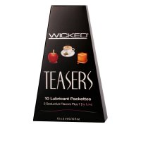 Wicked Teasers Flavored 10 Lubricant Packet Variety Pack